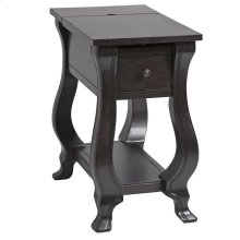 St. Croix 1-drawer Chairsider In Espresso