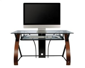 Computer Desk With Curved Wood Sides
