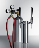 Dual Tap System With Nitrogen Tank To Serve Nitro-infused Coffee From Most Beer Dispensers Product Image