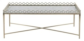 Marquesa Metal Cocktail Table with Glass Top