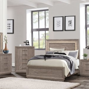 Liberty Furniture IndustriesKing Panel Bed, Dresser & Mirror, Chest, N/S