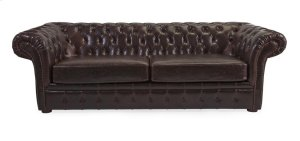 Morgan Tufted Leather Sofa
