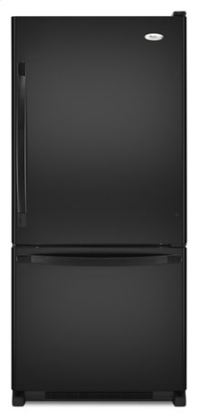 Black Whirlpool Gold® ENERGY STAR® Qualified 19 cu. ft. Bottom Mount Refrigerator