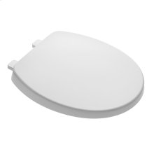 Telescoping Round Front Toilet Seat With Slow-Close and EverClean - White