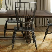 Cassidy - Windsor Side Chair - Charred Oak Finish