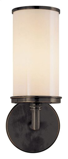 Visual Comfort S2006BZ-WG Studio Cylinder 1 Light 6 inch Bronze Bath Wall Light