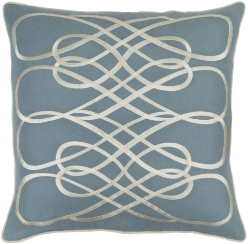 """Leah LAH-002 22"""" x 22"""" Pillow Shell with Down Insert"""
