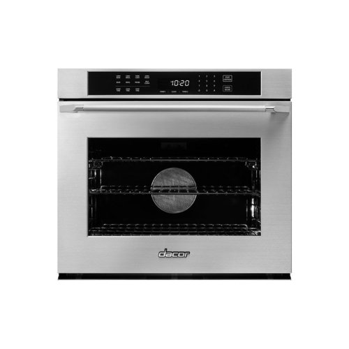 """Heritage 30"""" Single Wall Oven, Silver Stainless Steel with Epicure Style Handle"""