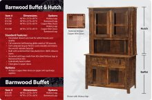 Barnwood Buffet and Hutch - 48 inch
