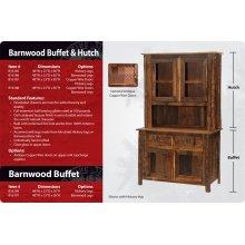 Barnwood Buffet and Hutch - 48 inch