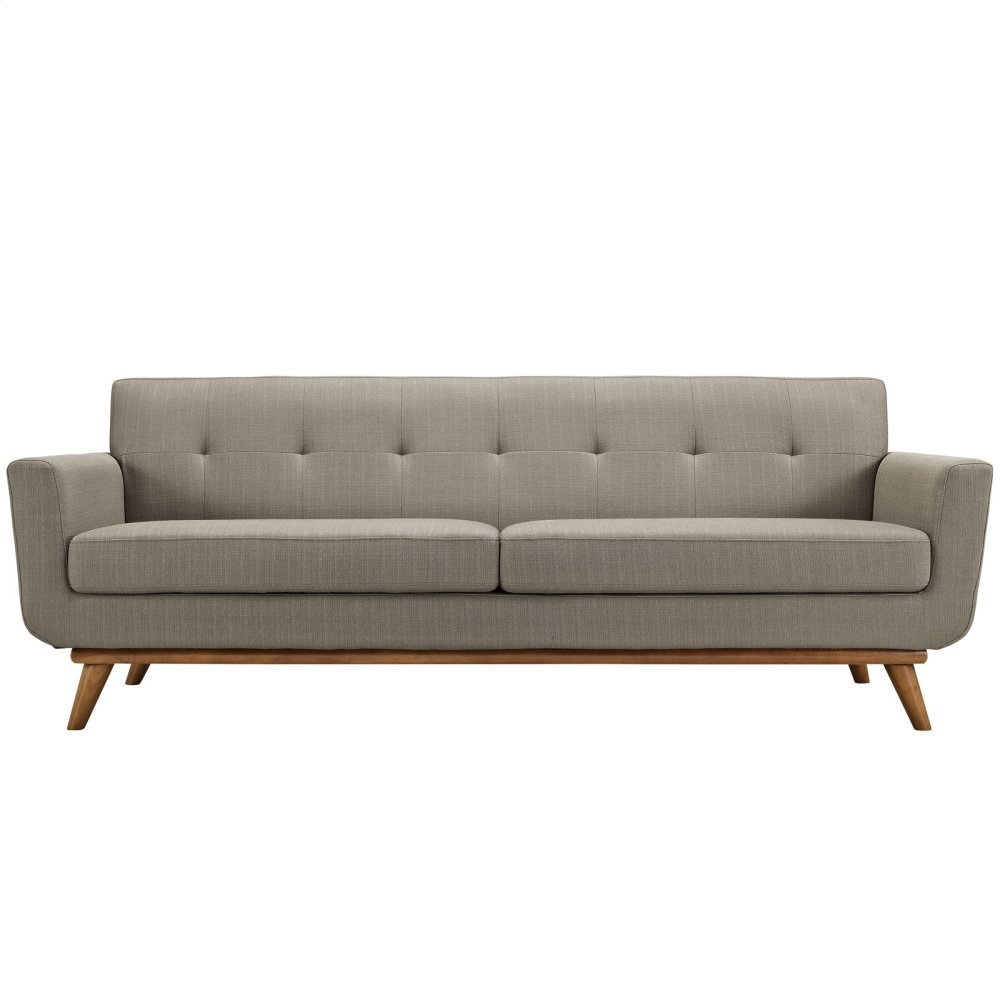 Engage Upholstered Fabric Sofa in Granite