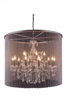 """1131 Brooklyn Collection Chandelier D:36"""" H:30.5"""" Lt:15 Dark Grey Finish (Royal Cut Crystals) Product Image"""