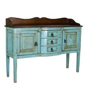 Henriette Turquoise/Walnut Sideboard