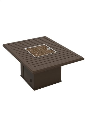"""Banchetto 54"""" X 42"""" Rectangular Fire Pit, Built-In Ignitor"""
