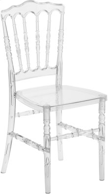 Flash Elegance Crystal Ice Napoleon Stacking Chair