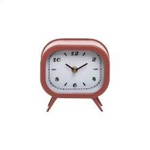 Small Tabletop Clock Rust