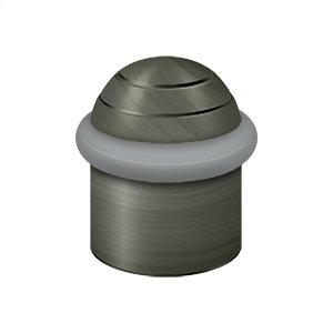 "Round Universal Floor Bumper Dome Cap 1-1/2"", Solid Brass - Antique Nickel"