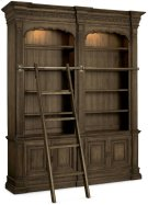 Rhapsody Double Bookcase with Ladder and Rail Product Image