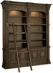 Rhapsody Double Bookcase with Ladder and Rail