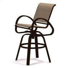 Aruba Sling Bar Height Swivel Cafe Chair