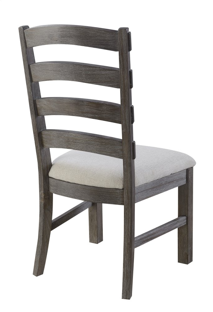 Additional Emerald Home Paladin Side Chair Slat Back Upholstered Seat  Rustic Charcoal D350 20