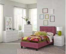 Pink Twin Footboard, Rails, Legs & Hardware
