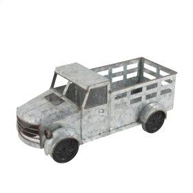 Silver Metal Pickup Truck