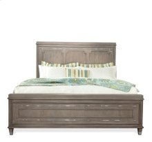 Dara Two - Queen Panel Bed Gray Wash finish