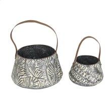 Set of 2 White Washed Langford Baskets