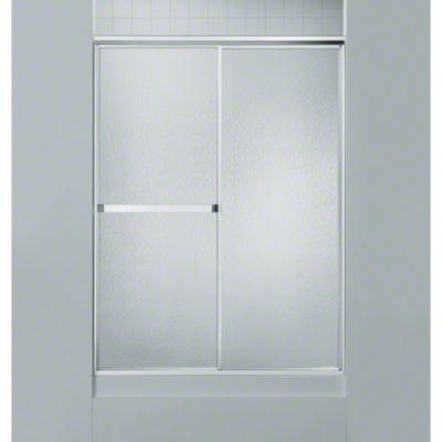 "Standard Sliding Shower Door - Height 65"", Max. Opening 46"" - Silver"