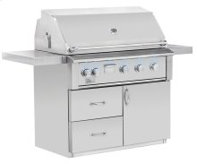 """Fully Assembled Deluxe Door & 2-Drawer Combo Grill Cart for 42"""" Alturi"""