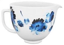 5 Quart Ink Watercolor Patterned Ceramic Bowl