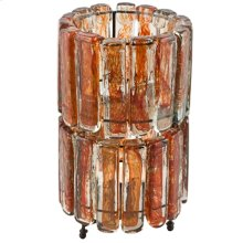 2 Tiered Blown Glass Orange Table Lamp