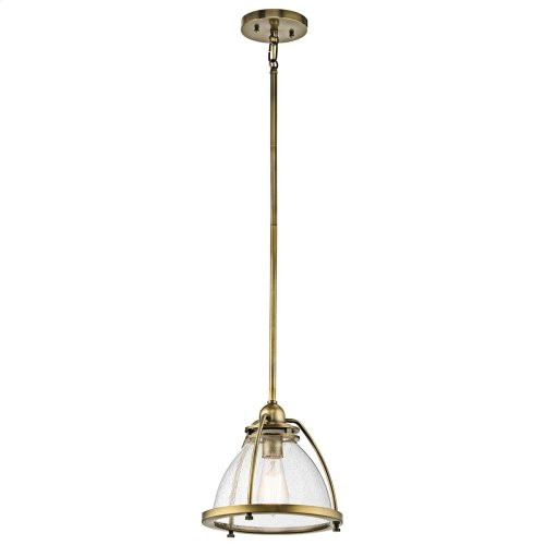 Silberne Collection 1 Light Silberne Pendant in Natural Brass NBR