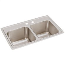 "Elkay Lustertone Classic Stainless Steel 29"" x 18"" x 10"", Equal Double Bowl Drop-in Sink"