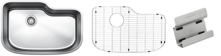 Blanco One XL Single Bowl Kit 1 - Organized - Satin Polished Finish