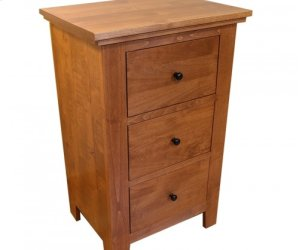 Virginia City Tall Three Drawer Nightstand