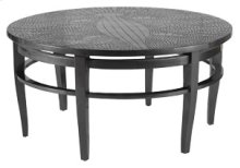 Platinum Crocodile Round Cocktail Table