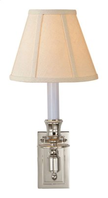 Visual Comfort S2210PN-L Studio French 1 Light 6 inch Polished Nickel Decorative Wall Light in Linen
