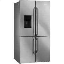 """36"""", Stainless Steel, 4-doors Refrigerator with Automatic Freezer"""