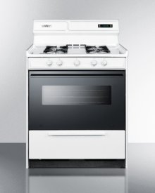 "Deluxe Gas Range In 30"" Width With Electronic Ignition, Digital Clock/timer, Black See-through Glass Oven Door and Light"
