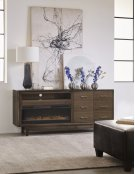 """Newport 84"""" Fireplace Console Product Image"""
