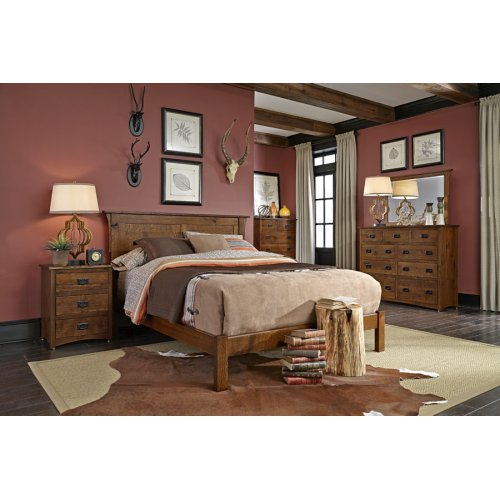 San Miguel Panel Headboard with Wood Frame, Character QSWO #26 Michael's, San Miguel Panel Headboard with Wood Frame, Queen, Character QSWO