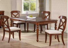 Sunset Trading 5 Piece Andrews Butterfly Leaf Dining Table Set in Chestnut