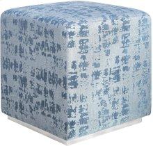 Kent Blue Textured Velvet Ottoman