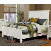 Sandy Beach White Queen Bed
