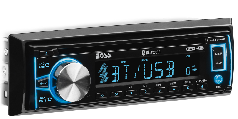 Single-DIN, CD/MP3 Player Detach Panel Bluetooth