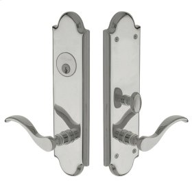 Polished Chrome Boulder Escutcheon Entrance Set
