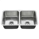 American Standard Undermount 32x18 Double Bowl Sink - Stainless Steel Product Image