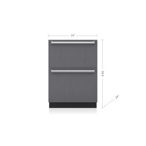 "24"" Designer Freezer Drawers with Ice Maker - Panel Ready"